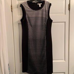 WHBM black and white checkered dress
